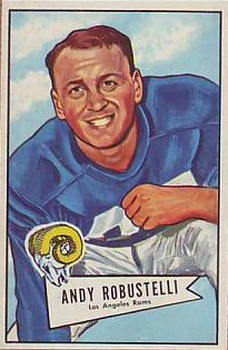 Andy Robustelli - Los Angeles Rams - New York Giants