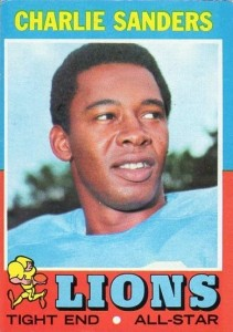 Charlie Sanders - Detroit Lions - Tight End - Hall of Fame - HOF