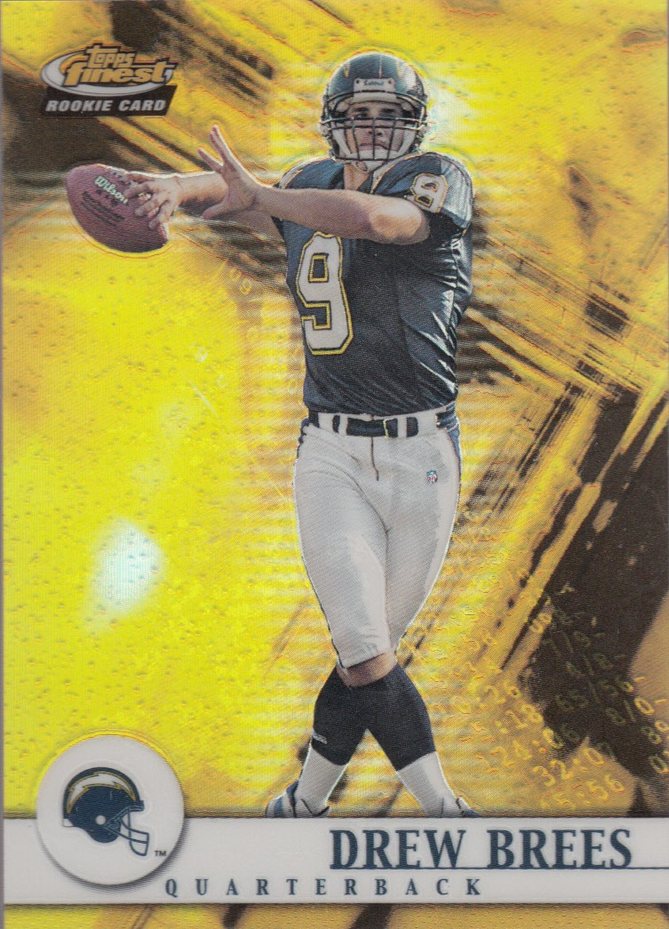 Drew Brees 2001 Topps Finest 127 Rookie Card San Diego