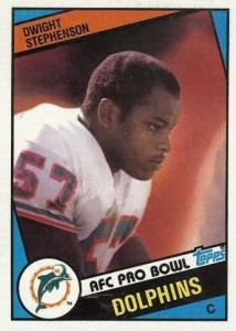 Dwight Stephenson - Miami Dolphins - Hall of Fame - HOF