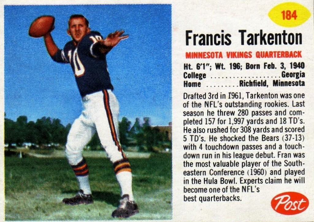 Fran Tarkenton - Minnesota Vikings - New York Giants
