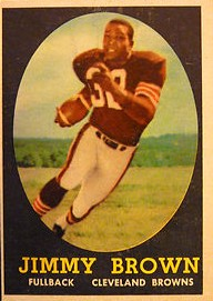 Jim Brown - Cleveland Browns - Running Back - Hall of Fame - HOF