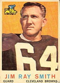 Jim Ray Smith Rookie Card - Cleveland Browns - Offensive Guard