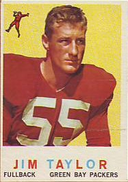 Jim Taylor 1959 Topps #155 Rookie Card - Green Bay Packers