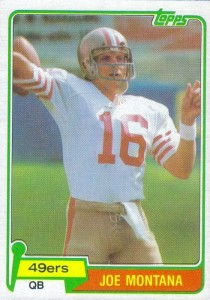 Joe Montana - San Francisco 49ers - Kansas City Chiefs