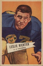 Les Richter - Los Angeles Rams - Hall of Fame - HOF