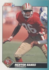 Merton Hanks - San Francisco 49ers - Seattle Seahawks - Cornerback