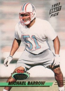 Michael Barrow - Houston Oilers - Carolina Panthers - Linebacker
