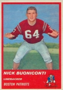 Nick Buoniconti - Boston Patriots - Miami Dolphins