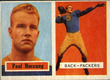 Paul Hornung 1957 Topps #151 Rookie Card - Green Bay Packers