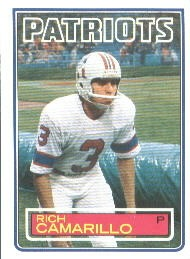 Rich Camarillo - New England Patriots - Chicago Cardinals - Arizona Cardinals - St. Louis Cardinals - Phoenix Cardinals