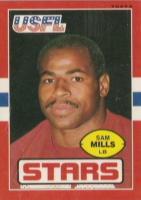 Sam Mills - USFL - Stars - New Orleans Saints