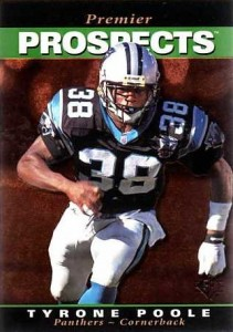 Tyrone Poole - Carolina Panthers - Cornerback