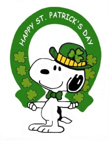 St. Patrick's Day, Snoopy, Irish